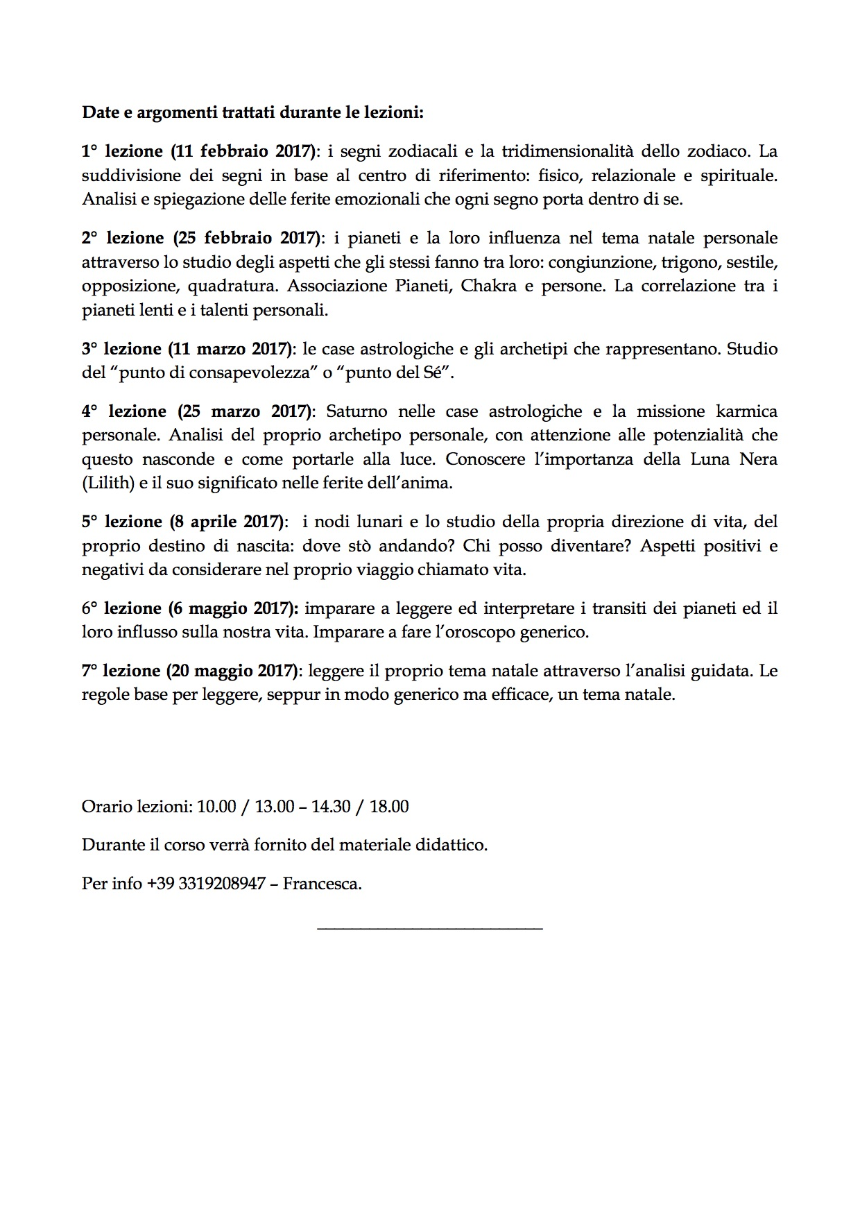 CORSO DI ASTROLOGIA 2Bologna 2