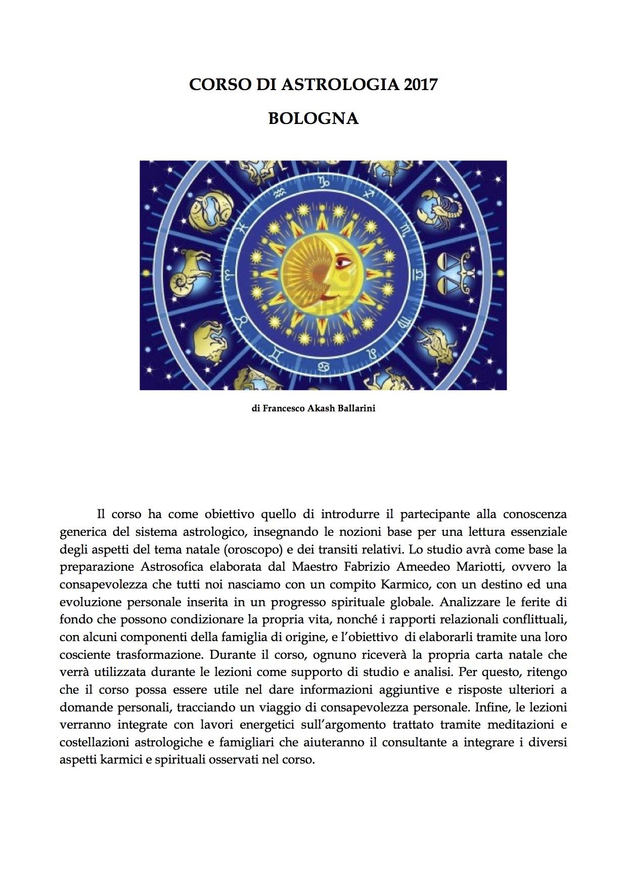 CORSO DI ASTROLOGIA Bologna 2